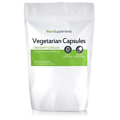 "Your Supplements - Capsule Vegetali, Vuote, Tagila ""0"", 1000 Pezzi"