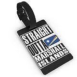 Straight Outta Marshall Islands Etiquetas de Equipaje para Maleta, Tarjeta de Visita, Tarjeta de identificación de Viaje, Paquete de Etiquetas para Bolsa, Blanco (Negro) - Lg87pfb-24808819