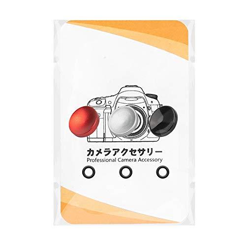 ORMY シャッターボタン レリーズボタン アルミ合金製 FUJIFILM X-T4 / X-T3 / X100V / X30 / X-E3/ X-PRO3 などに対応 【国内正規品】 (凹 (赤・黒・銀))