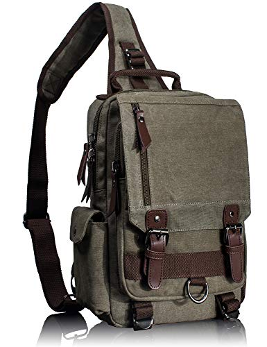 Leaper Retro Messenger Bag Canvas Shoulder Backpack Travel...