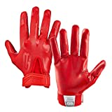 Grip Boost Stealth Solid Color Football Gloves Pro Elite - Adult Sizes (Red, Adult Large)