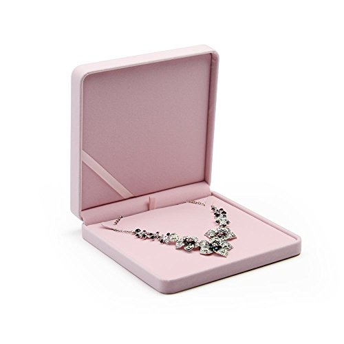 Oirlv Rose Velluto Grande Collana/Collana di Perle/Collana Robusta Contenitore di Gioielli Scatola Regalo