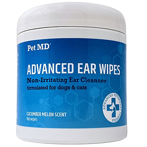 Pet MD Cat and Dog Ear Cleaner Wipes - Advanced...