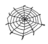 Pekirun Halloween Decorations Spider Web,4.1FT 3FT Spooky Hairy Spiders Scary Furry Spider Props Outside Yard Spider Web Two Pack (Two Web(Blakc+White))