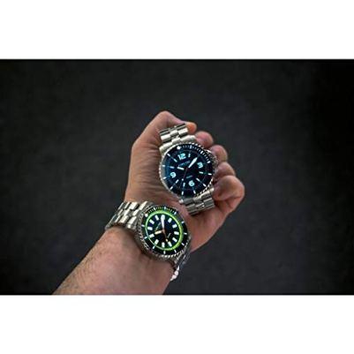 Lum-Tec 350M-2 Diving Wrist Watch | Steel Strap - Blue
