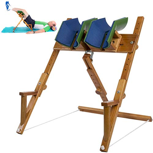 The Spine Wizard Back Stretcher; Alternative to an Inversion Table, for Lower Back Pain, Sciatica, herniated disc, Spinal Stenosis, Back Pain Relief in Bed.