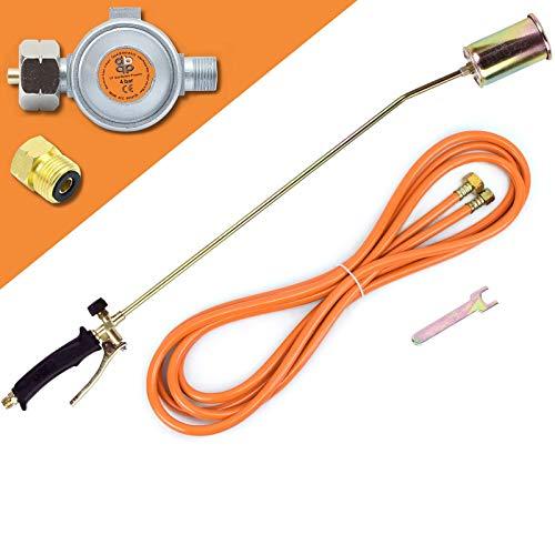 Gasbrenner 58 KW Unkrautvernichter Brenner Dachbrenner Mitteldruckregler SN0283R