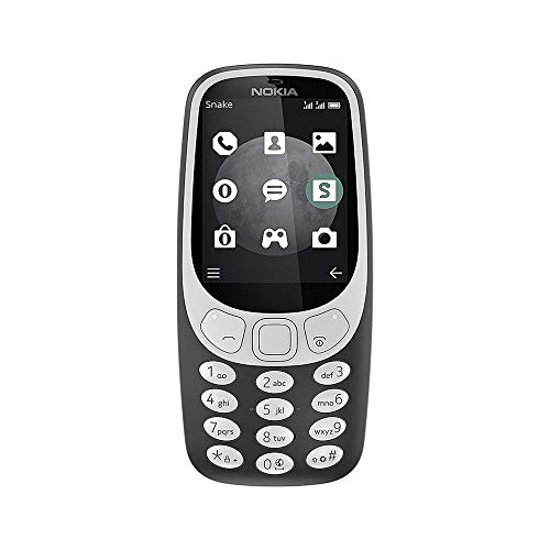 Nokia 3310 3G - Unlocked Single SIM Feature Phone (AT&T/T-Mobile/MetroPCS/Cricket/Mint) - 2.4 Inch Screen - Charcoal