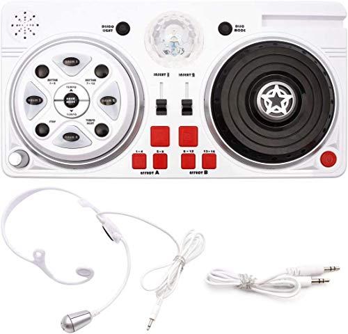 Controller DJ - Party Mixer Platino giocattolo per bambini DJ Set con microfono e palla da discoteca divertente per bambini