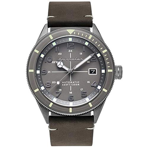 SPINNAKER Cahill Herren-Armbanduhr 43mm Armband Leder Automatik SP-5064-03