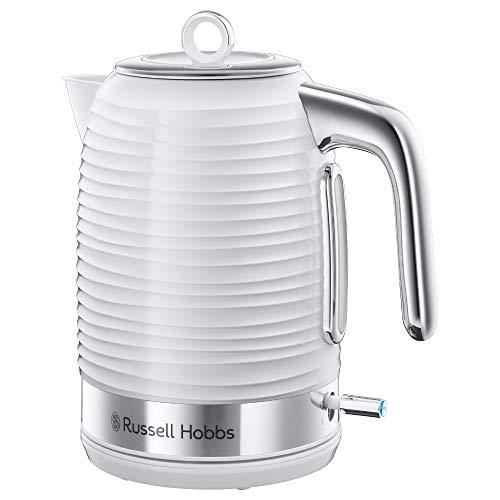 Russell Hobbs Inspire Blanco Hervidor de Agua Eléctrico - 2400 W, 1,7 litros, Filtro Extraíble, Blanco - 24360-70