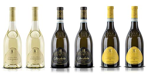 Confezione 6 bottiglie   3 tipologie di Vino Bianco Garda DOC: Lugana di Sirmione   Lugana Riserva   Dorobianco del Garda - Cantina Avanzi