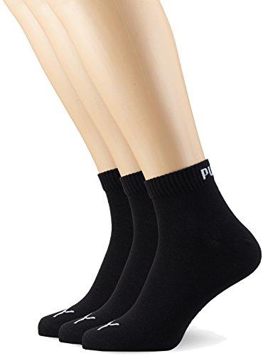 PUMA Plain 3P Quarter Socke, Schwarz (Black), 47-49