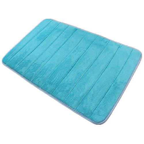 VSUSN - Tappeto da Bagno Antiscivolo, in Memory Foam e Microfibra, per Bagno, Microfibra, Azzurro,...
