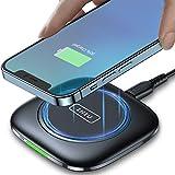 INIU Chargeur sans Fil, 15W Certifié Qi Super Rapide Chargeur à Induction, Universel Charging Pad avec Temp°Guard compatible avec iPhone 12 11 Pro X 8 Plus...