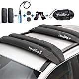 HandiRack Universal Inflatable Soft Roof Rack Bars (Pair); Tie-Downs and Bow and Stern Lines Included; Carries Kayaks, Canoes, Surfboards and SUPs