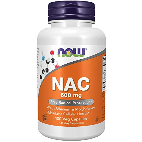 Now Foods, NAC (N-Acetyl Cysteine), 600mg, 100 Veg. Kapseln