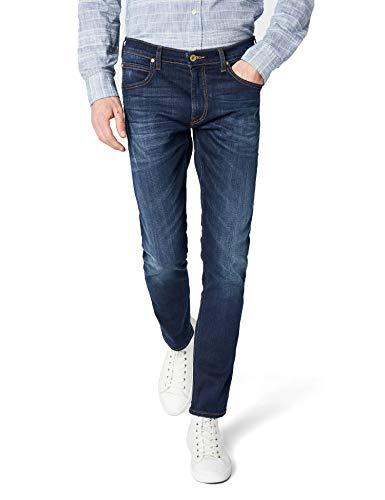 Lee Luke Slim Tapered Fit Jeans, Blu (True Authentic Gcby), W28/L34 Uomo