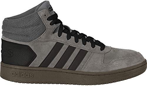 adidas Herren Hoops 2.0 MID Basketballschuhe, Mehrfarbig (Grey Four F17/Core Black/Core Black Ee7367), 43 1/3 EU