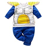 Kids Toddler Infant Baby Boys Clothes Halloween Cosplay Funny Costume Tops Sweatsuit+Pants Outfit Set Blue