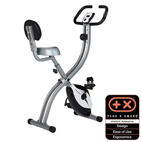 Ultrasport Unisex F-Bike Exercise Bike, Display LCD, Home Trainer Pieghevole, Livelli di Resistenza...