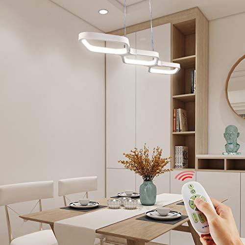 Anten 30W LED Pendelleuchte für esstisch, Hängeleuchte dimmbar Pendellampe hoehenverstellbar, Leuchte für esszimmer Wohnzimmer Esszimmer,weiße