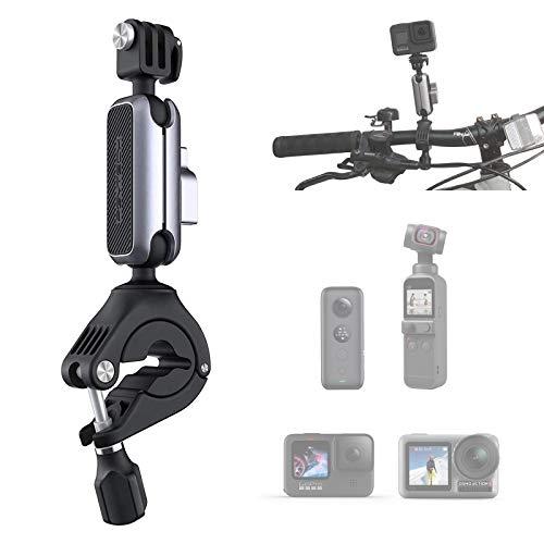 PGYTECH Action Kamera Fahrradhalterung Aluminium Fahrrad Lenkerhalterung Fahrradträger Überrollbügelhalter Adapter für Sportkameras Fahrradhalter Ständer Zubehör 182*60*35 mm
