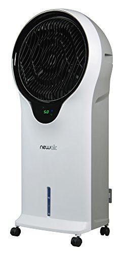 NewAir, EC111W, Portable Indoor Tower Fan with Evaporative Air Cooler and Humidifier, 250 Square Foot Effective Range, White, sq. ft