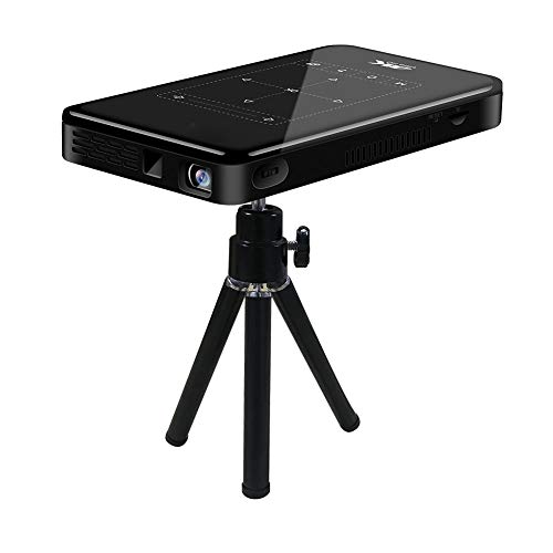 Tonysa Mini proiettore, proiettore Tascabile Smart DLP Portatile 3D 4K HD, 20.000 Ore di videoregistratore per Home Theater Android 6.0, Supporta DC in, HD in, HDMI, USB(EU Plug)