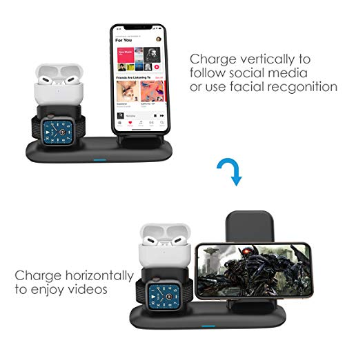 Wireless Charger 4 In 1 Wireless Charging Station For Ipad Apple