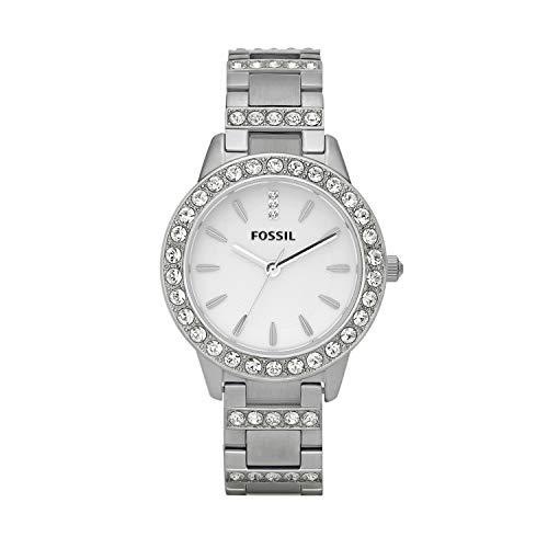 Fossil Damen Analog Quarz Uhr mit Edelstahl Armband ES2362
