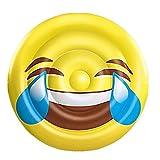 BH Inflatables: Giant Emoji Tears of Joy Inflatable Pool Float Raft, 5 Feet