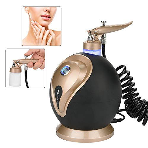 Professional Air Water Jet Skin Care Injection Spray Gun, Facial Moisturizing, Cleaning Pores, Clear Beauty,Wrinkle Remove, Sauna Spa Rejuvenation Machine, Beauty Device(Black)