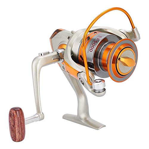Mulinello da pesca, Mulinello da pesca a basso profilo con manico in legno per pesca sul ghiaccio Pesca in mare(EF500)