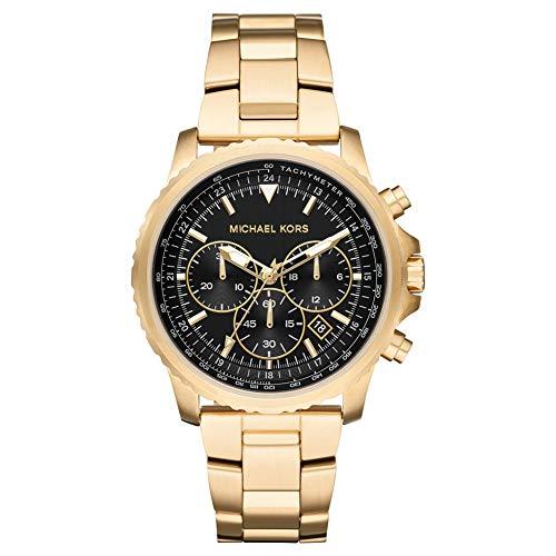 Michael Kors Herren Chronograph Quarz Uhr mit Edelstahl Armband MK8642