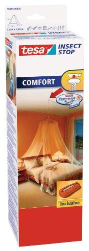 Tesa Stop Moustiquaire Voile Comfort – Ciel Anti-Insectes avec Crochet...