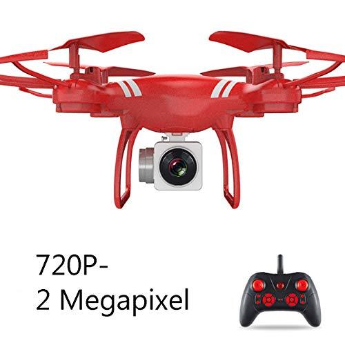 APJS KY101 S8 RC Droni Quadricotteri Action Cam con Fotocamera 720P, 2.4Ghz WiFi Live Video FPV UAV Velivoli Camera HD da 2MP, Hold Altitude modalit Headless, Facile da Pilotare,Rosso