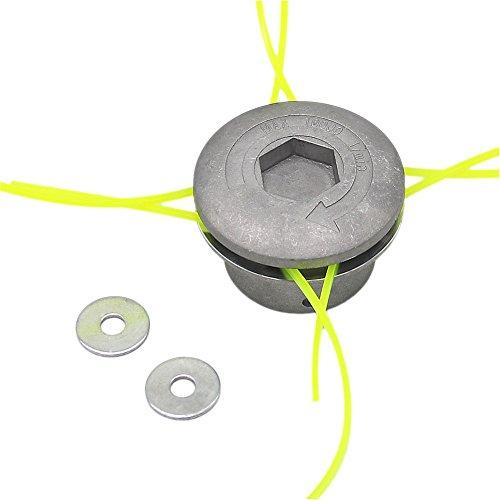 SWNKDG alluminio testina decespugliatore testa doppia testina bobina di filo filo di nylon per...