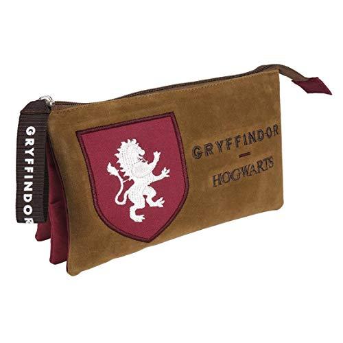 Artesania Cerda Estuche/portatodo Plano 3 Compartimentos Harry Potter Gryffindor Sacca, 22 cm, Rosso...
