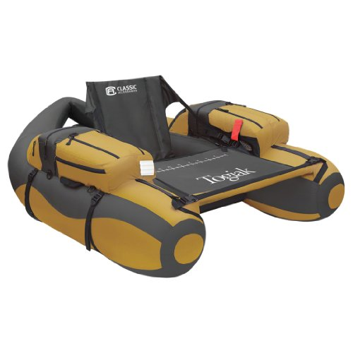 Classic Accessories Togiak Inflatable Fishing Float Tube With Backpack Straps , Gold/Gray , 54.25 x...