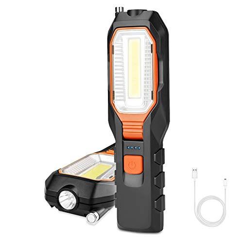 FOCHEA LED Arbeitsleuchte Taschenlampe Werkstattlampe Superhelle LED COB...