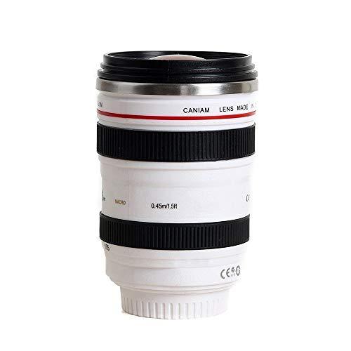 第6世代 Caniam キャノン カメラ  一眼レフ 24~105ミリ レンズ型 保温 ステンレス マグカップ タンブラーホワイト Caniam 【インポート】