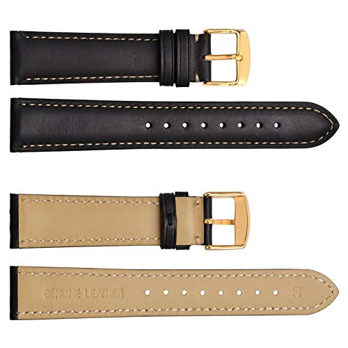 WOCCI Watch Band 14mm 16mm 18mm 19mm 20mm 21mm 22mm 23mm 24mm – Vintage Leather Watch Strap,Choice of Color and Width