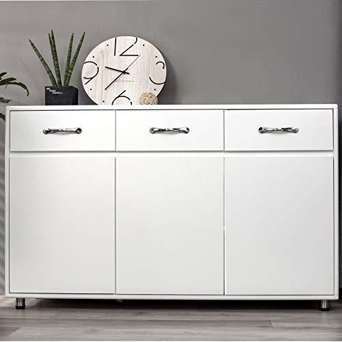 Floor Standing Storage Cabinet, Sideboard with Adjustable Shelves,...