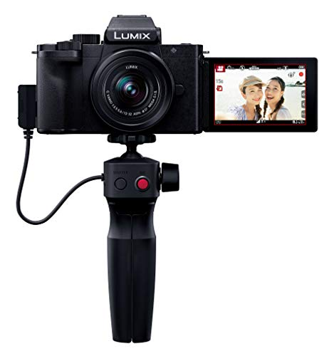 パナソニック Vlog ミラーレス一眼カメラ ルミックス G100V 標準ズームレンズキット トライポッドグリップ付属 ブラック DC-G100V-K