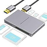 Lecteur de Carte USB 3.0 SD Card Reader, Lecture Simultanée de 5 Cartes,...