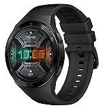 HUAWEI Watch GT 2e Smartwatch (46mm AMOLED Touchscreen, SpO2-Monitoring,Herzfrequenz-Messung,Musik Wiedergabe,GPS,Fitness Tracker,5ATM wasserdicht) Graphite Black[Exklusiv+5 EUR Gutschein]