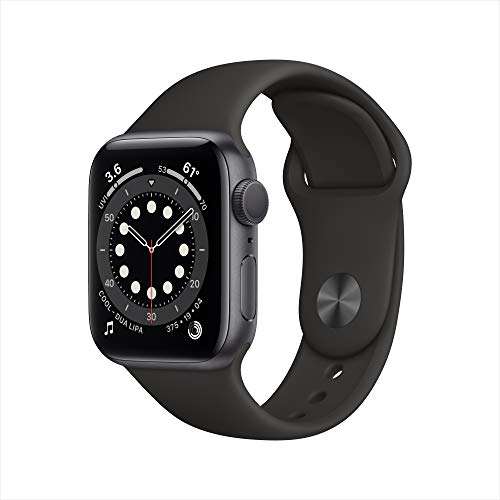 New Apple Watch Series 6 (GPS, 40mm) Space Gray Aluminum Case - Black Sport Band