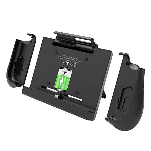 BigBlue 10000mAh Batteria Case per Nintendo Switch, Caricatore Caricabatterie Ricaricabile con Impugnature per Joy-con, Supporto Regolabile e Slot per Schede, Cover Batteria per Nintendo Switch
