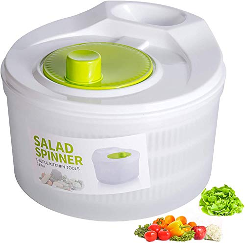 BeFunky Salad Spinner Large Capacity for Vegetable Water Drain, Fruits Vegetable Lettuce Washer with...